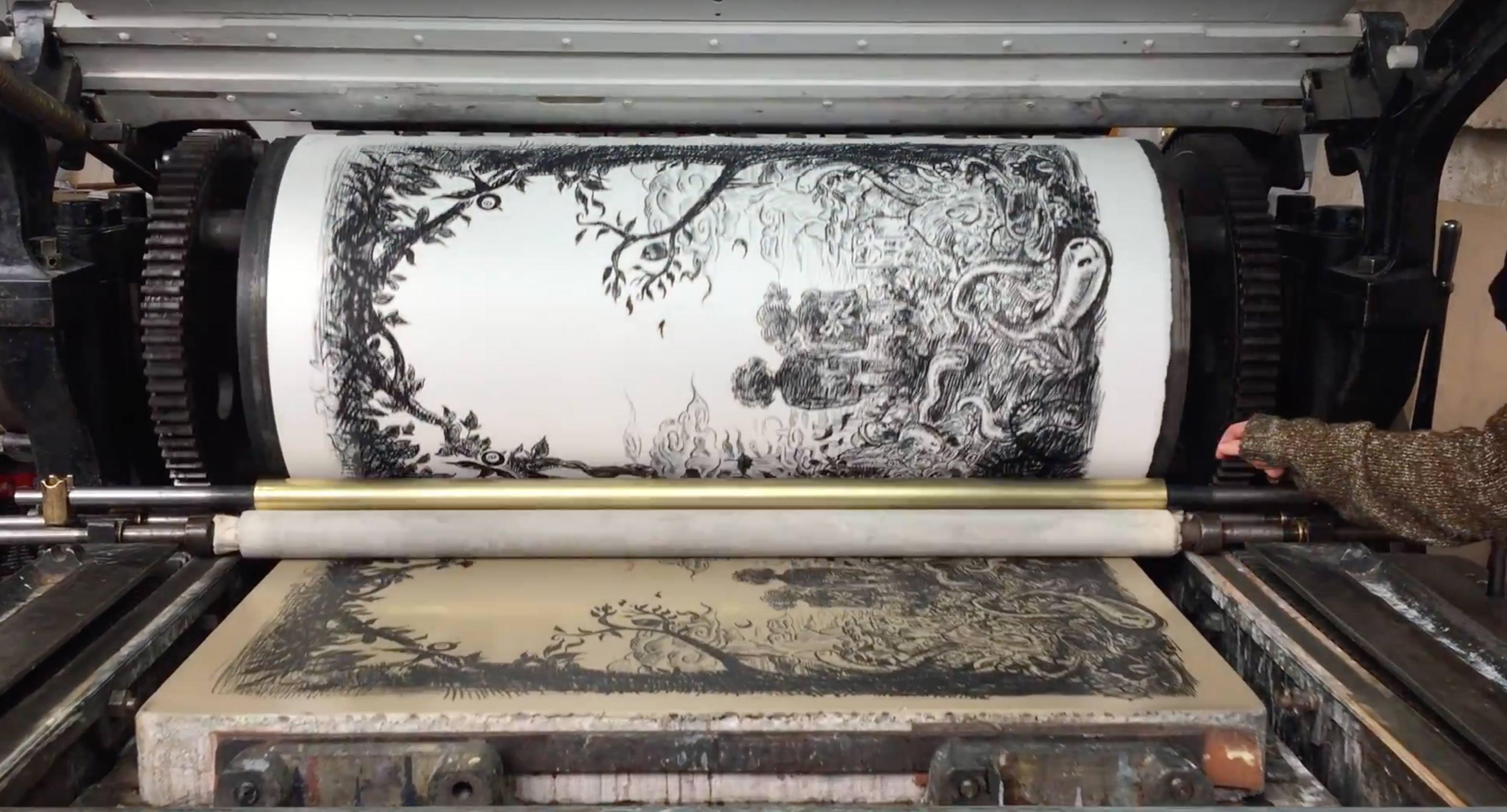 Video - Impression du noir de la lithographie de Winshluss Over The Rainbow
