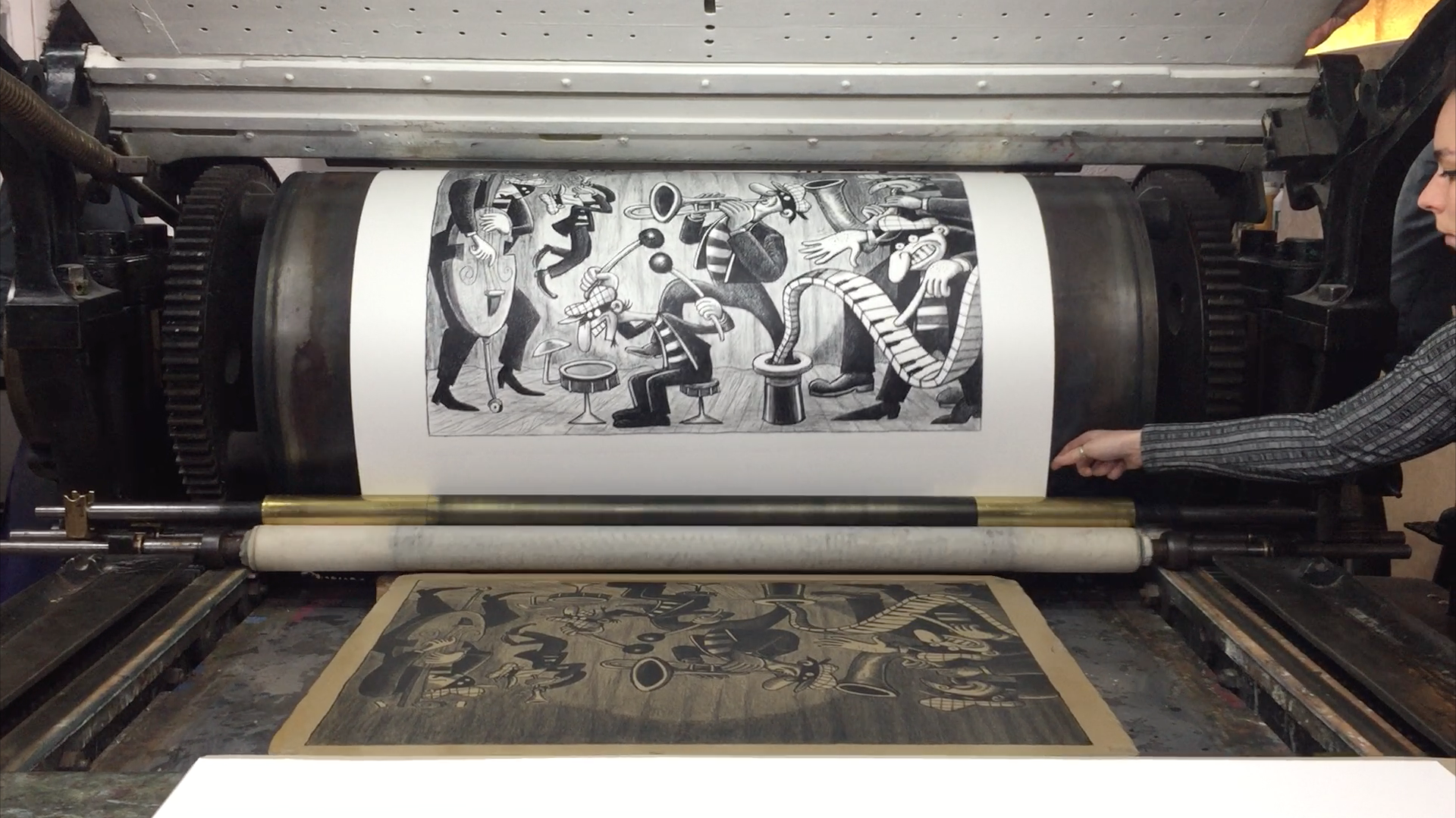 Video - Impression de la lithographie Silent Six de Art Spiegelman
